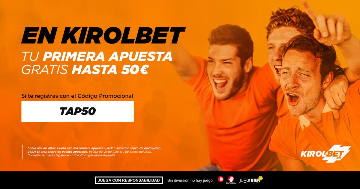 Promoción 50€ sin riesgo Kirolbet